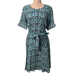 Brooks Brothers Teal Print Dress